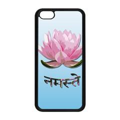 Namaste   Lotus Apple Iphone 5c Seamless Case (black) by Valentinaart