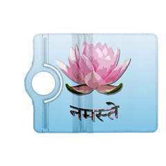 Namaste   Lotus Kindle Fire Hd (2013) Flip 360 Case by Valentinaart