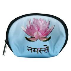 Namaste   Lotus Accessory Pouches (medium)  by Valentinaart