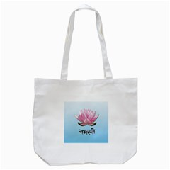 Namaste   Lotus Tote Bag (white) by Valentinaart