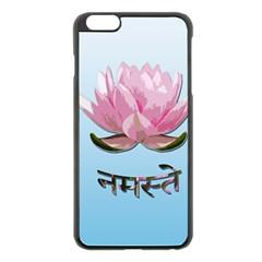 Namaste   Lotus Apple Iphone 6 Plus/6s Plus Black Enamel Case by Valentinaart