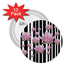 Namaste   Lotus 2 25  Buttons (10 Pack)  by Valentinaart