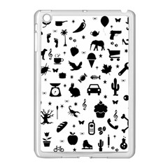 Rebus Apple Ipad Mini Case (white) by Valentinaart