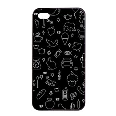 Rebus Apple Iphone 4/4s Seamless Case (black) by Valentinaart