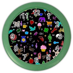 Rebus Color Wall Clocks by Valentinaart