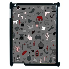 Rebus Apple Ipad 2 Case (black) by Valentinaart