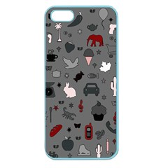 Rebus Apple Seamless Iphone 5 Case (color) by Valentinaart