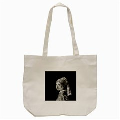 The Girl With The Pearl Earring Tote Bag (cream) by Valentinaart