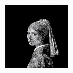 The Girl With The Pearl Earring Medium Glasses Cloth by Valentinaart