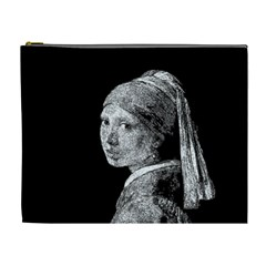 The Girl With The Pearl Earring Cosmetic Bag (xl) by Valentinaart