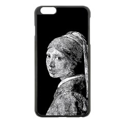 The Girl With The Pearl Earring Apple Iphone 6 Plus/6s Plus Black Enamel Case