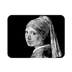 The Girl With The Pearl Earring Double Sided Flano Blanket (mini)  by Valentinaart