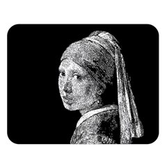 The Girl With The Pearl Earring Double Sided Flano Blanket (large)  by Valentinaart