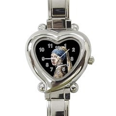 The Girl With The Pearl Earring Heart Italian Charm Watch by Valentinaart
