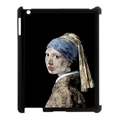 The Girl With The Pearl Earring Apple Ipad 3/4 Case (black) by Valentinaart