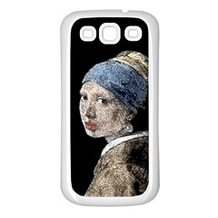 The Girl With The Pearl Earring Samsung Galaxy S3 Back Case (white) by Valentinaart