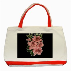 Orchid Classic Tote Bag (red) by Valentinaart