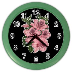 Orchid Color Wall Clocks by Valentinaart