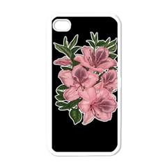 Orchid Apple Iphone 4 Case (white) by Valentinaart
