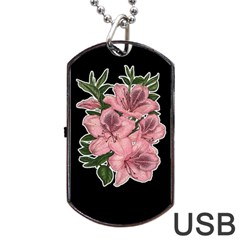 Orchid Dog Tag Usb Flash (one Side) by Valentinaart