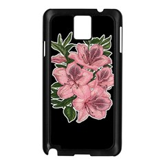 Orchid Samsung Galaxy Note 3 N9005 Case (black) by Valentinaart