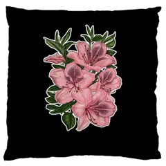 Orchid Large Flano Cushion Case (one Side) by Valentinaart