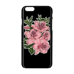 Orchid Apple Iphone 6/6s Black Enamel Case by Valentinaart