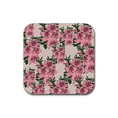 Orchid Rubber Square Coaster (4 Pack)  by Valentinaart