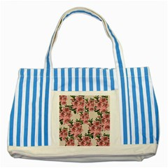 Orchid Striped Blue Tote Bag by Valentinaart