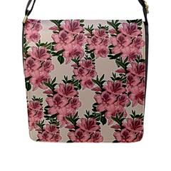 Orchid Flap Messenger Bag (l)  by Valentinaart