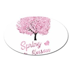 Spring Blossom  Oval Magnet by Valentinaart