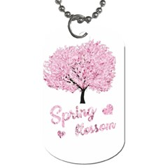 Spring Blossom  Dog Tag (two Sides) by Valentinaart