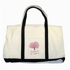 Spring Blossom  Two Tone Tote Bag by Valentinaart