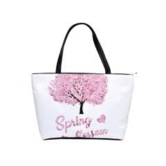 Spring Blossom  Shoulder Handbags by Valentinaart