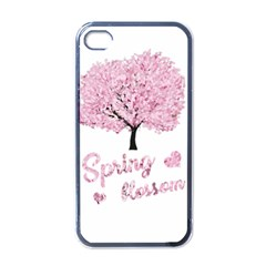 Spring Blossom  Apple Iphone 4 Case (black) by Valentinaart