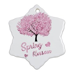Spring Blossom  Snowflake Ornament (two Sides) by Valentinaart