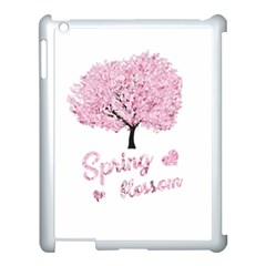 Spring Blossom  Apple Ipad 3/4 Case (white) by Valentinaart