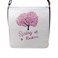 Spring Blossom  Flap Messenger Bag (l)  by Valentinaart