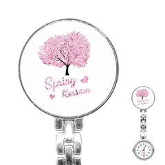 Spring Blossom  Stainless Steel Nurses Watch by Valentinaart