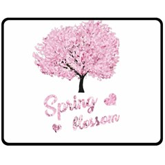 Spring Blossom  Double Sided Fleece Blanket (medium)  by Valentinaart
