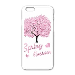 Spring Blossom  Apple Iphone 6/6s White Enamel Case by Valentinaart