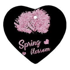 Spring Blossom  Heart Ornament (two Sides) by Valentinaart