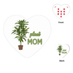 Plant Mom Playing Cards (heart)  by Valentinaart