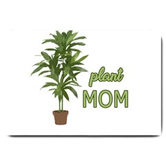 Plant Mom Large Doormat  by Valentinaart