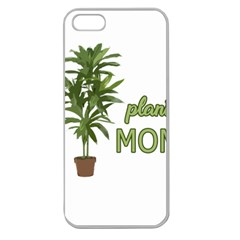 Plant Mom Apple Seamless Iphone 5 Case (clear) by Valentinaart