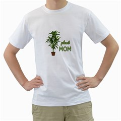 Plant Mom Men s T Shirt (white)  by Valentinaart