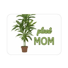 Plant Mom Double Sided Flano Blanket (mini)  by Valentinaart