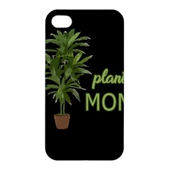 Plant Mom Apple Iphone 4/4s Premium Hardshell Case by Valentinaart