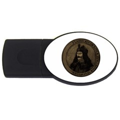 Count Vlad Dracula Usb Flash Drive Oval (4 Gb) by Valentinaart