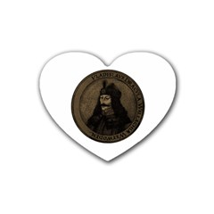 Count Vlad Dracula Heart Coaster (4 Pack)  by Valentinaart
